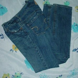 AMERICAN EAGLE Straight 77 Stretch Jeans Size 4